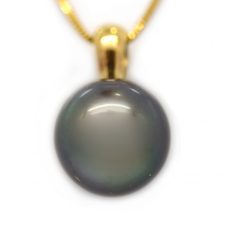 18k Gold South pacific salt natural Pearl Pendent [JP02]