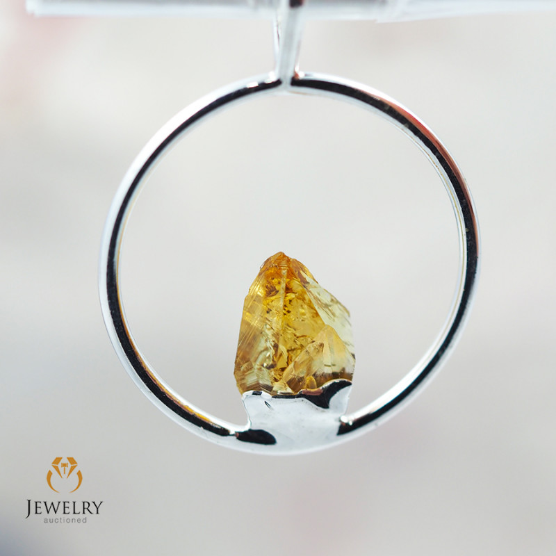 Citrine terminated point Pendant BR 317