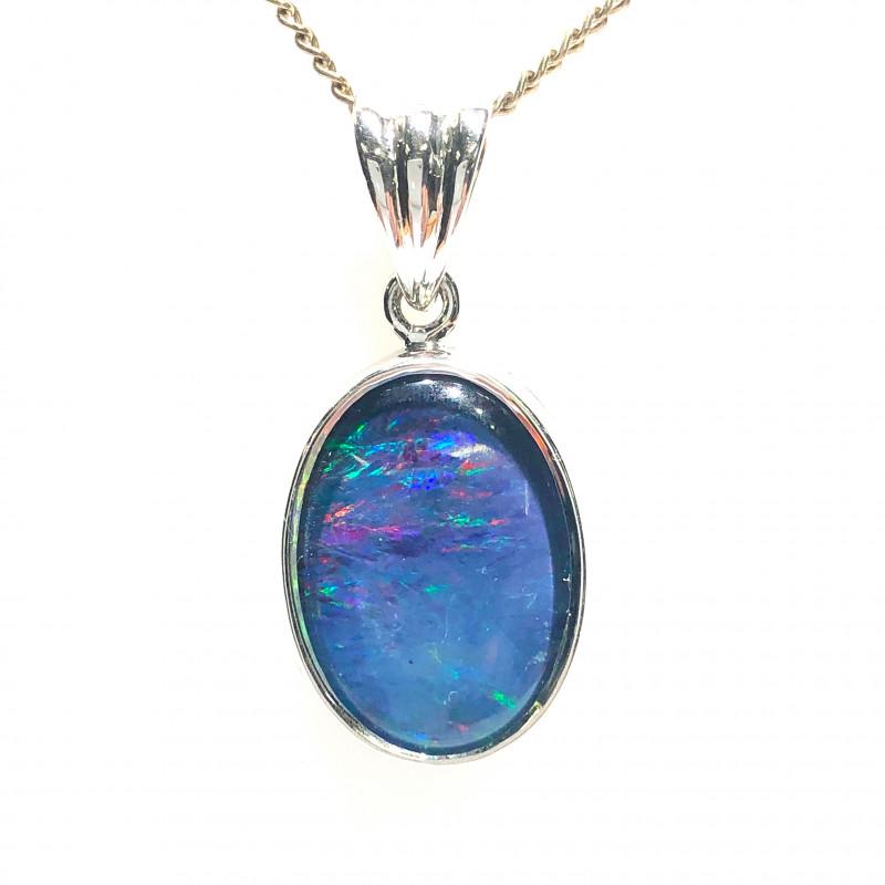 Australian Opal Triplet in Silver pendant OPJ 2415