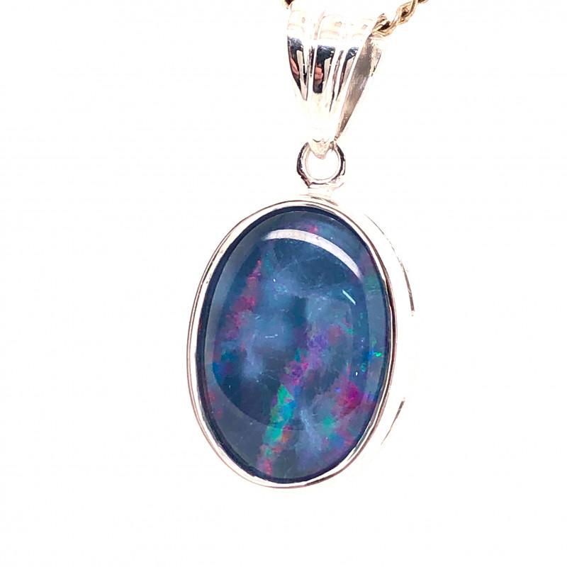 Australian Opal Triplet in Silver pendant OPJ 2416