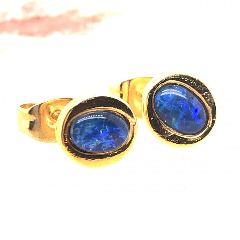Australian Opal triplet Earrings OPJ 2419