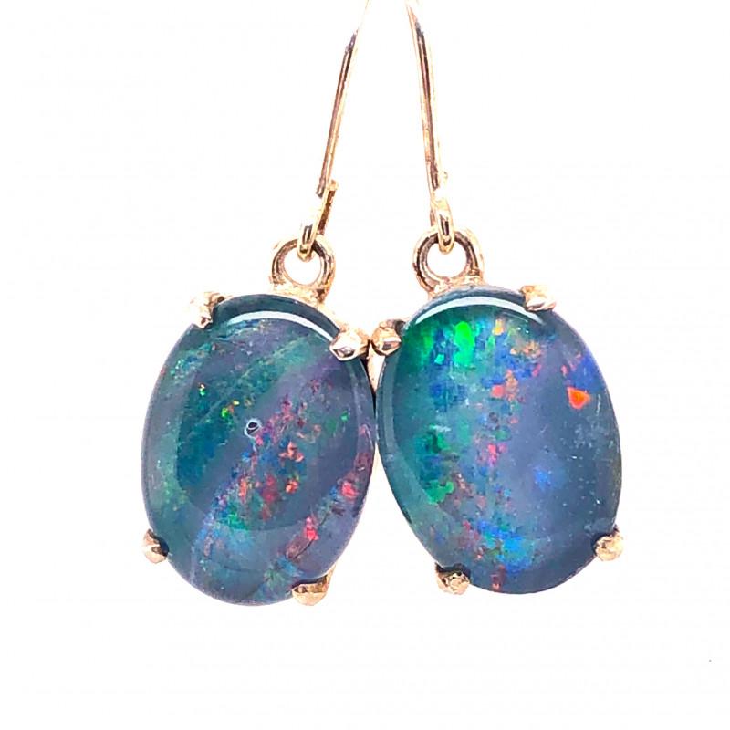 Cute Triplet Opal silver Earrings OPJ 2420