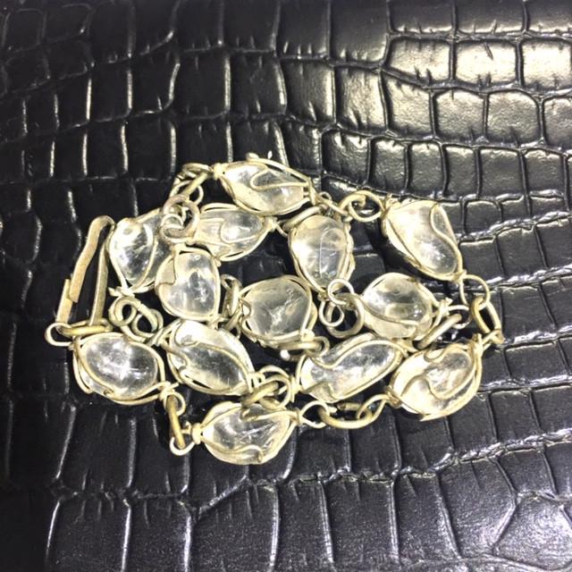 Raw Quartz  Rock Crystal bracelet,25 cm lhand made   BR 350