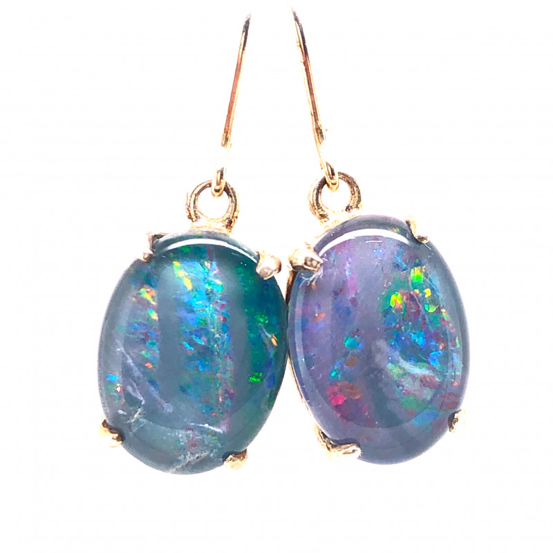 Cute Triplet Opal silver Earrings OPJ 2421