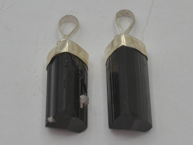 66.80 CT NATURAL TOURMALINE PENDENT With Silver ~ T