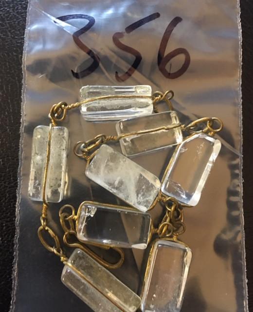 Raw Quartz  Rock Crystal bracelet,hand made   BR 356