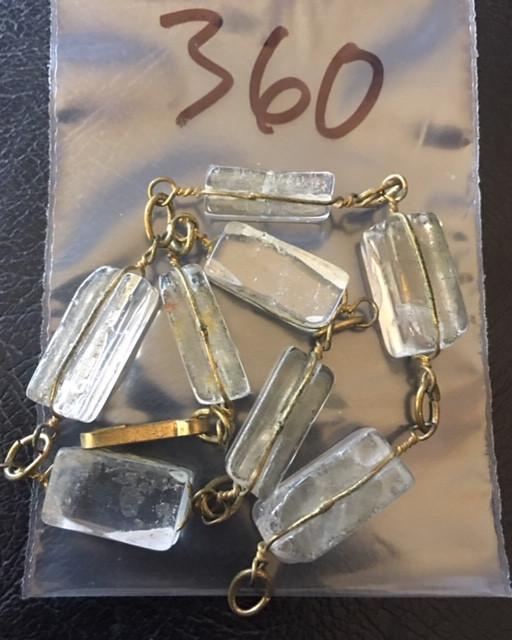Raw Quartz  Rock Crystal bracelet,hand made   BR 360