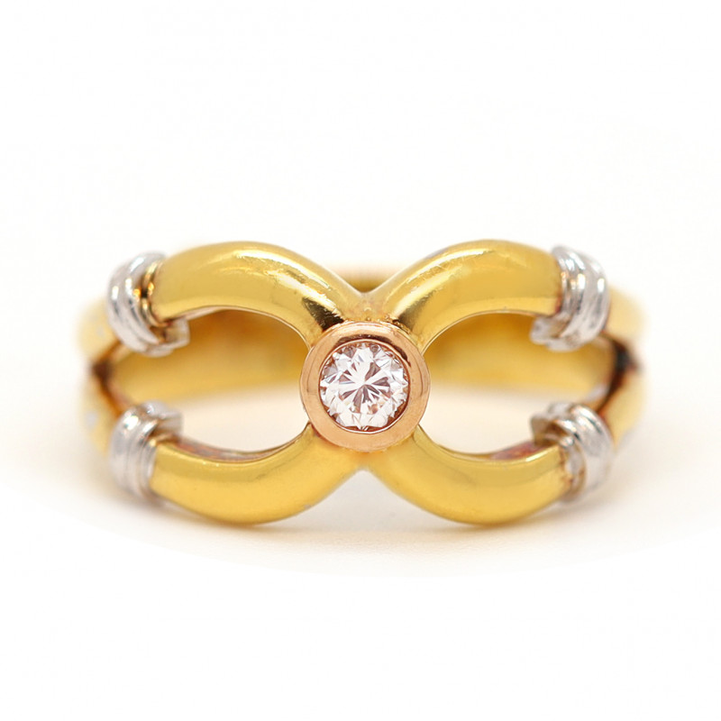 18K GOLD RING WITH TOP CLASS PINK DIAMONDS  [JR08]