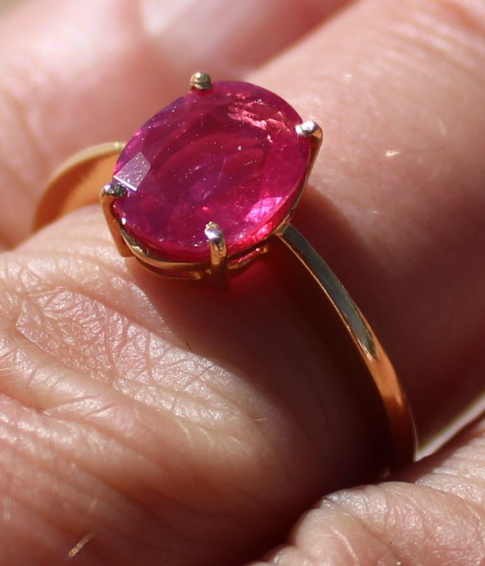 GIA Certified Tajik Ruby 1.50ct Solid 22K Yellow Gold Solitaire Ring Apprai