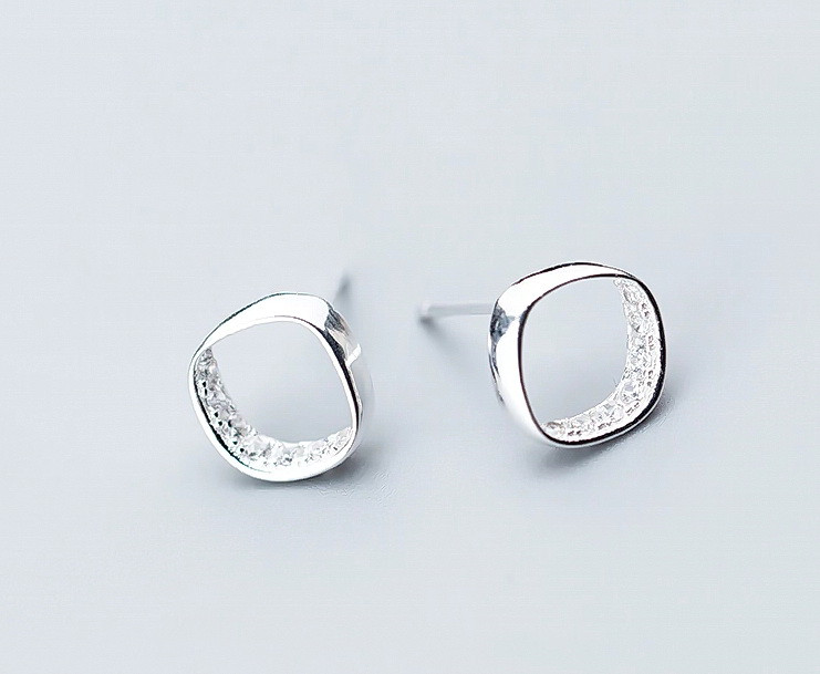 3.60 Ct Real 925 Sterling Silver Stud Earrings Bright Crystal Women Fine Je