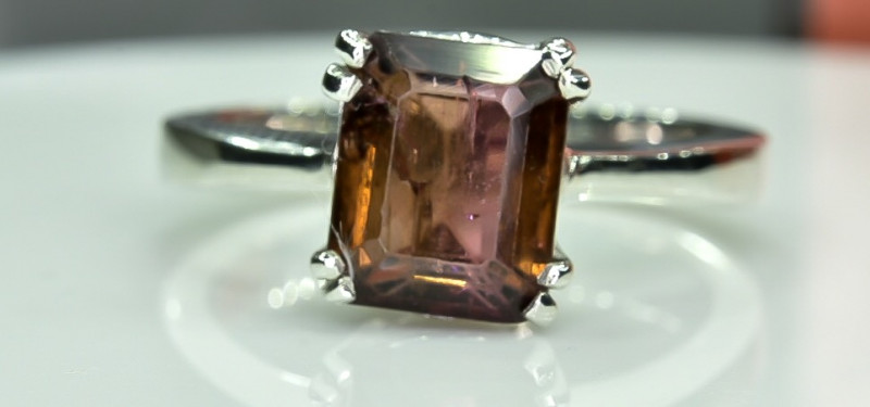 19.68 Crt Tourmaline Natural 925 Silver Ring Size 7