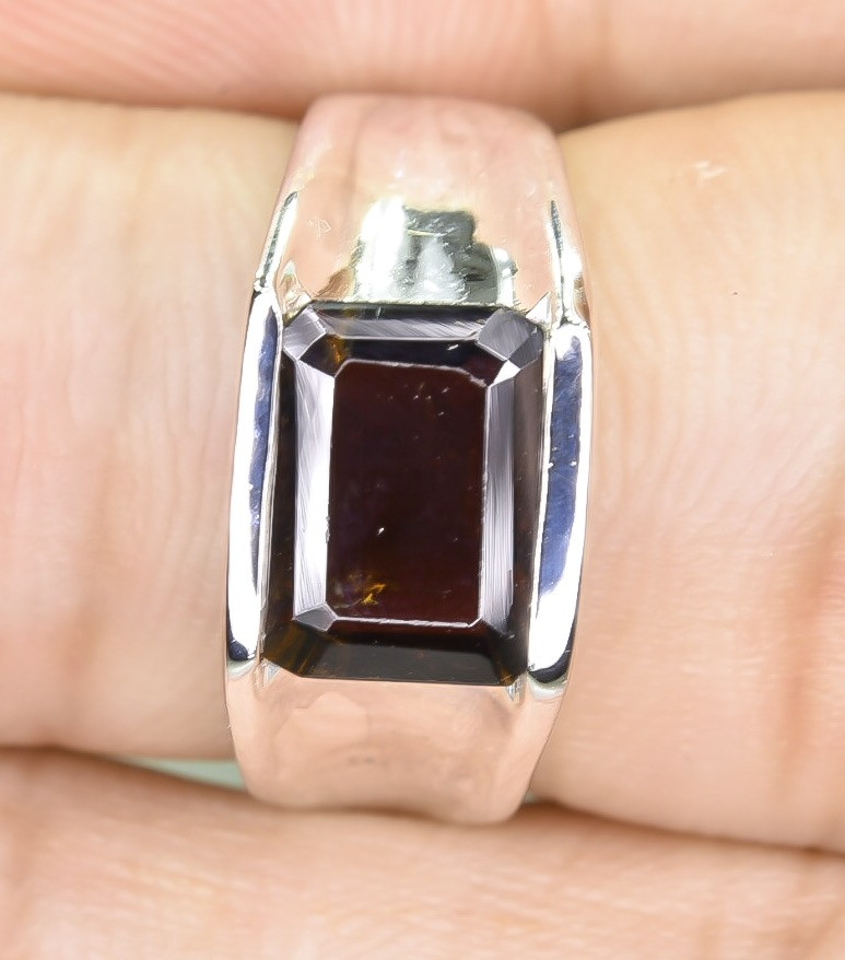 26.76 Crt Natural 925 Stearling  Silver Ring