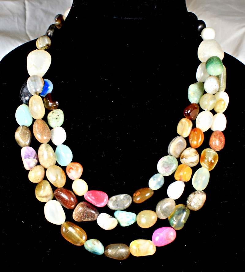 1548.0 Tcw. African Gemstone Necklace - Gorgeous