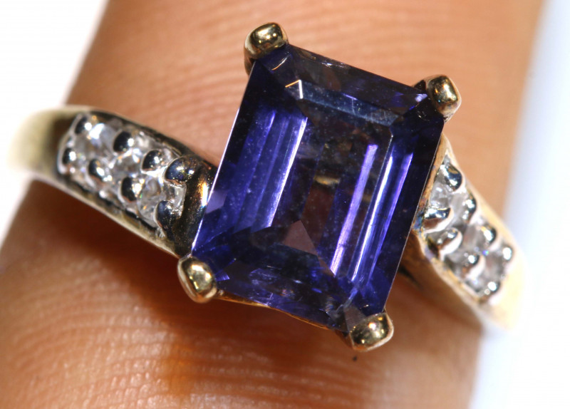 18.40 CTS AMETHYST SILVER RING   RJ-709