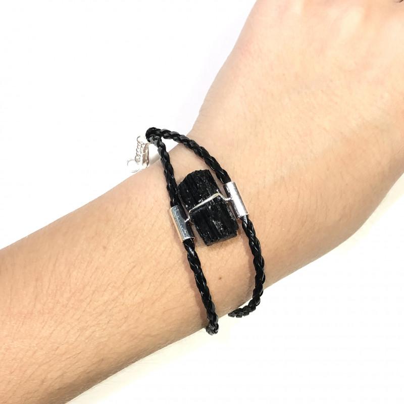 Raw Black Tourmaline Bracelet BR 2004
