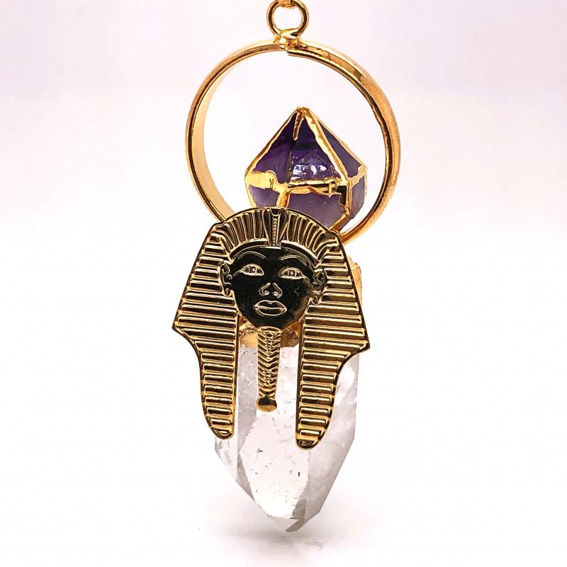 Pharaoh Crystal Terminated Point & Amethyst - Pendant BR 641