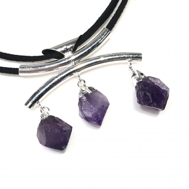 Amethyst lovers   4 Piece Jewelry  Set Br 2066