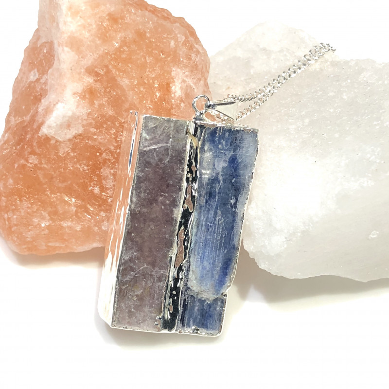 Blue Kyanite and Mica Pendant BR 2080