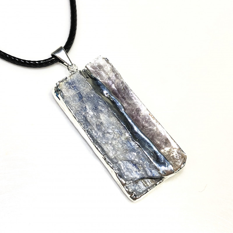 Blue Kyanite and Mica Pendant BR 2082