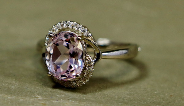18.05 Cts Unheated & Natural ~ Purple Pink Kunzite Silver Ring