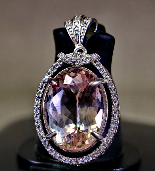 50.10 Cts Unheated & Natural ~ Purple Pink Kunzite Silver Pendants