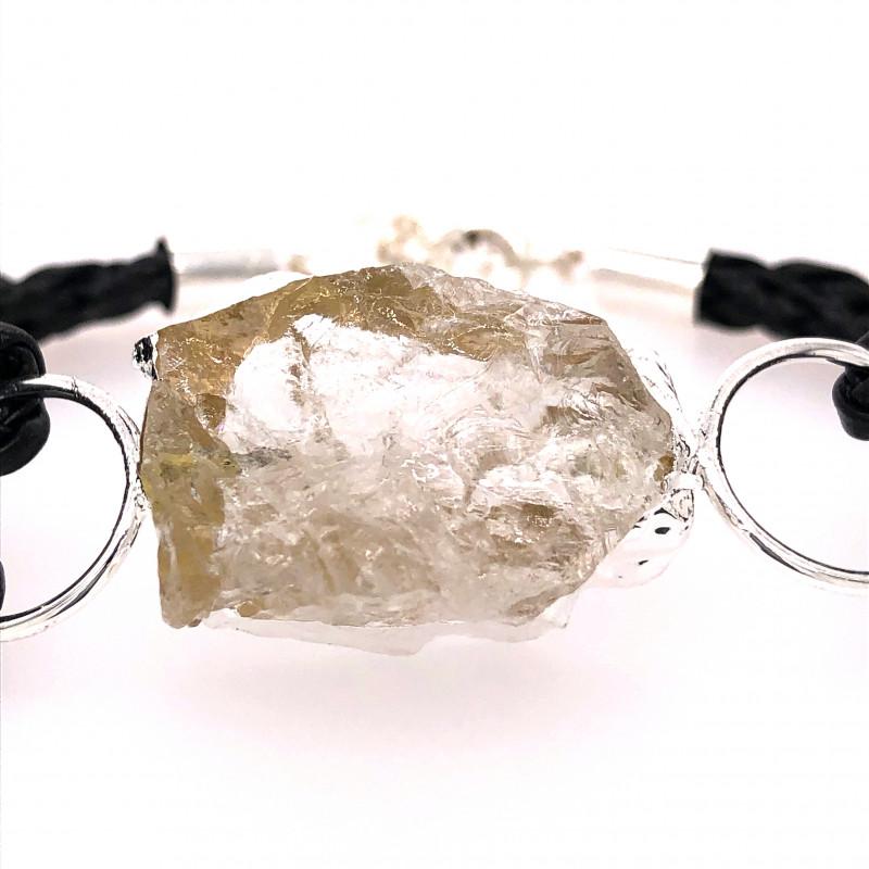 Raw Rock Crystal Bracelet  BR 697