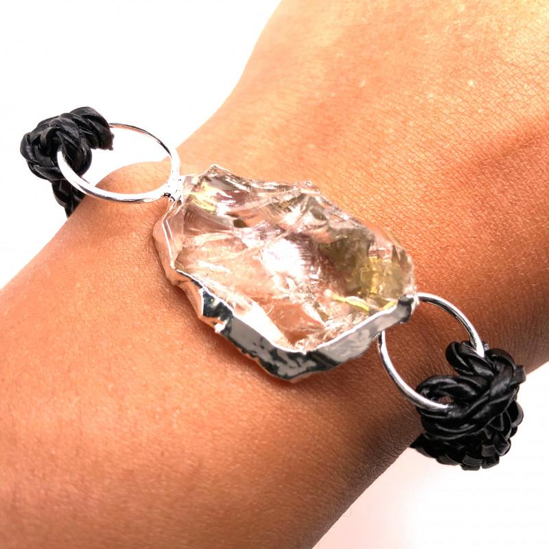 Raw Rock Crystal Bracelet  BR 700