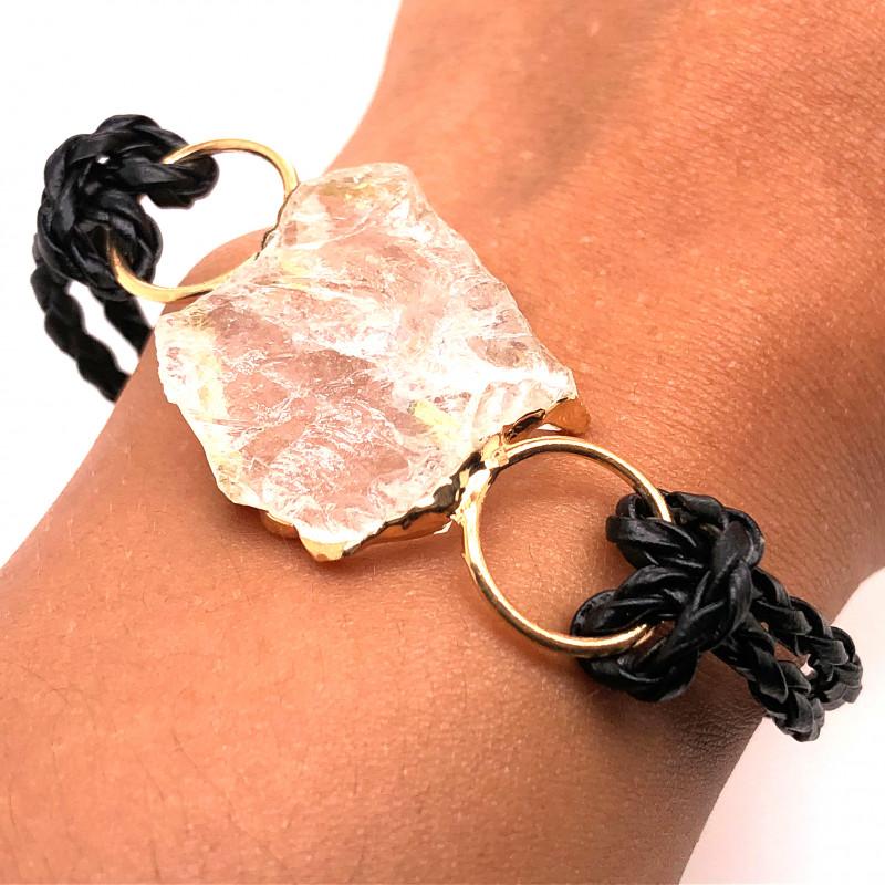 Raw Rock Crystal Bracelet  BR 702