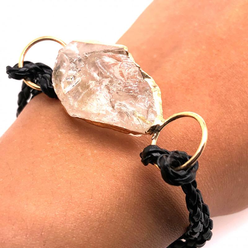 Raw Rock Crystal Bracelet  BR 703