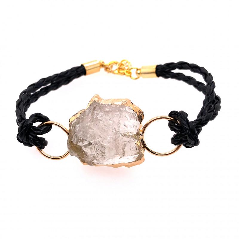 Raw Rock Crystal Bracelet  BR 704