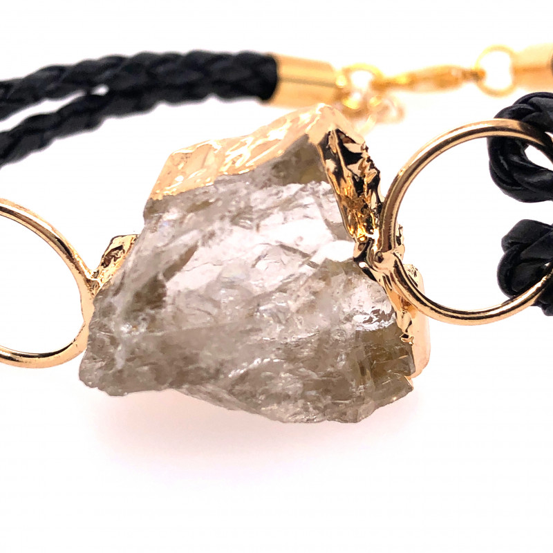 Raw Rock Crystal Bracelet  BR 705