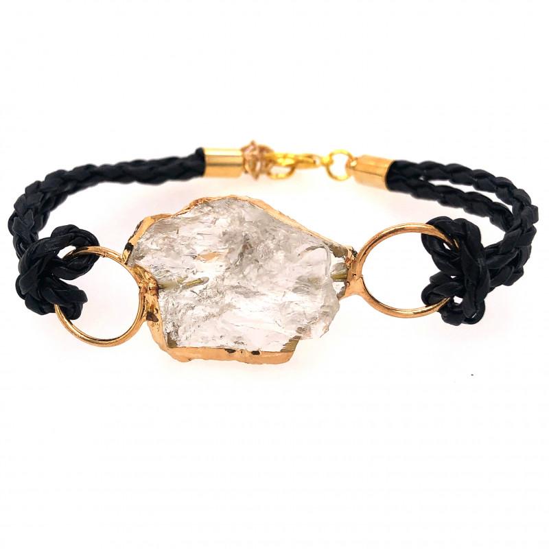Raw Rock Crystal Bracelet  BR 706