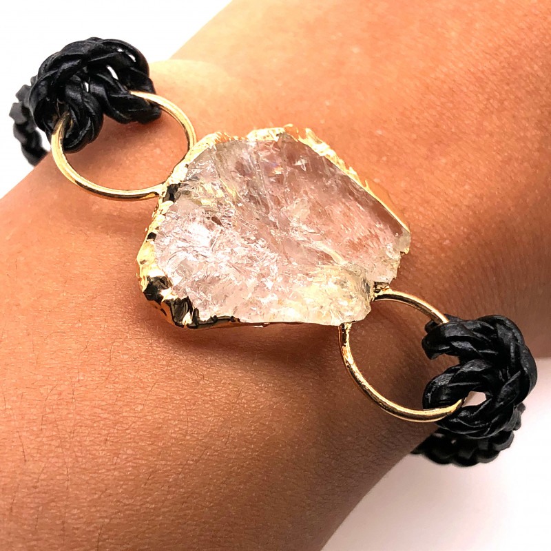 Raw Rock Crystal Bracelet  BR 707