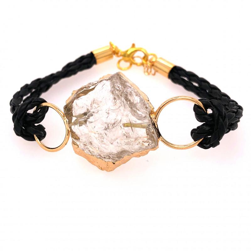 Raw Rock Crystal Bracelet  BR 709