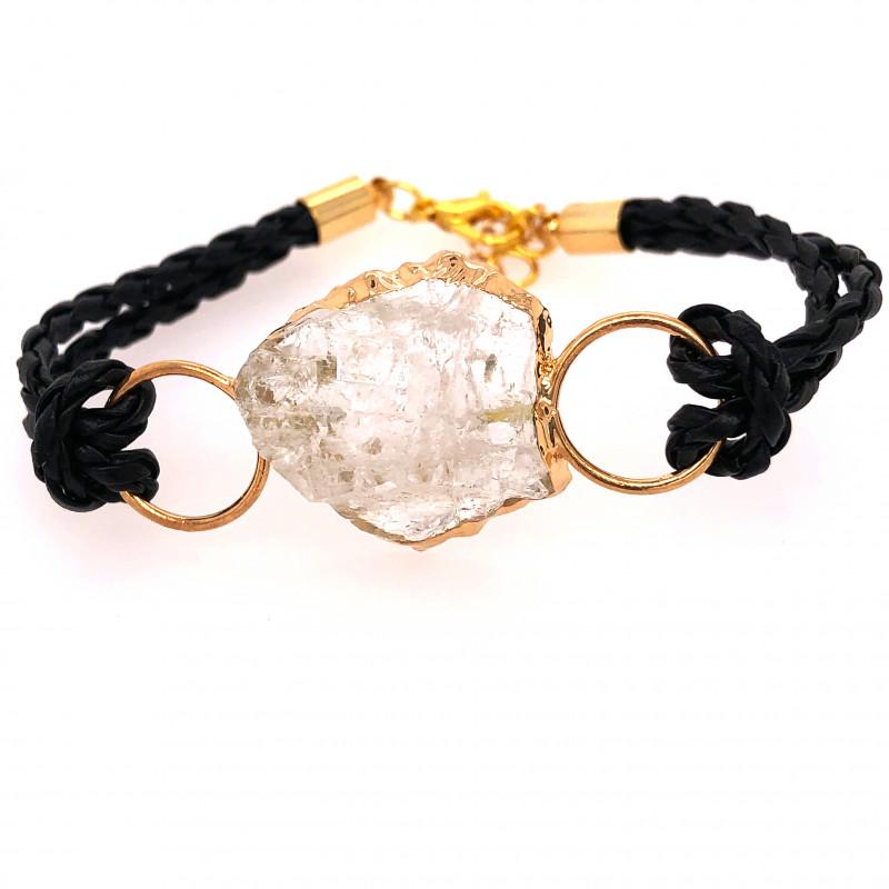 Raw Rock Crystal Bracelet  BR 710