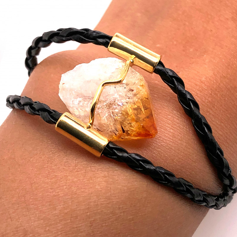 Raw Rock Citrine Bracelet  BR 711