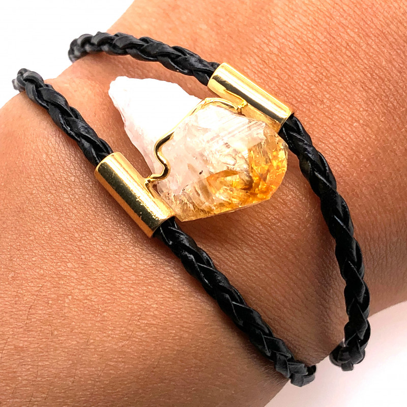 Raw Rock Citrine Bracelet  BR 713