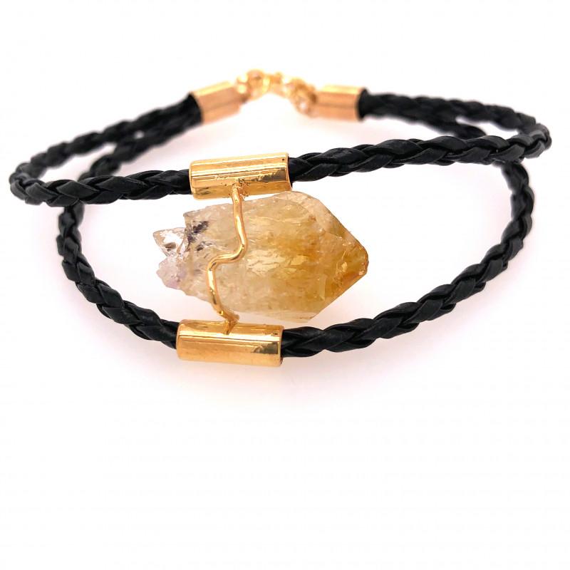 Raw Rock Citrine Bracelet  BR 714