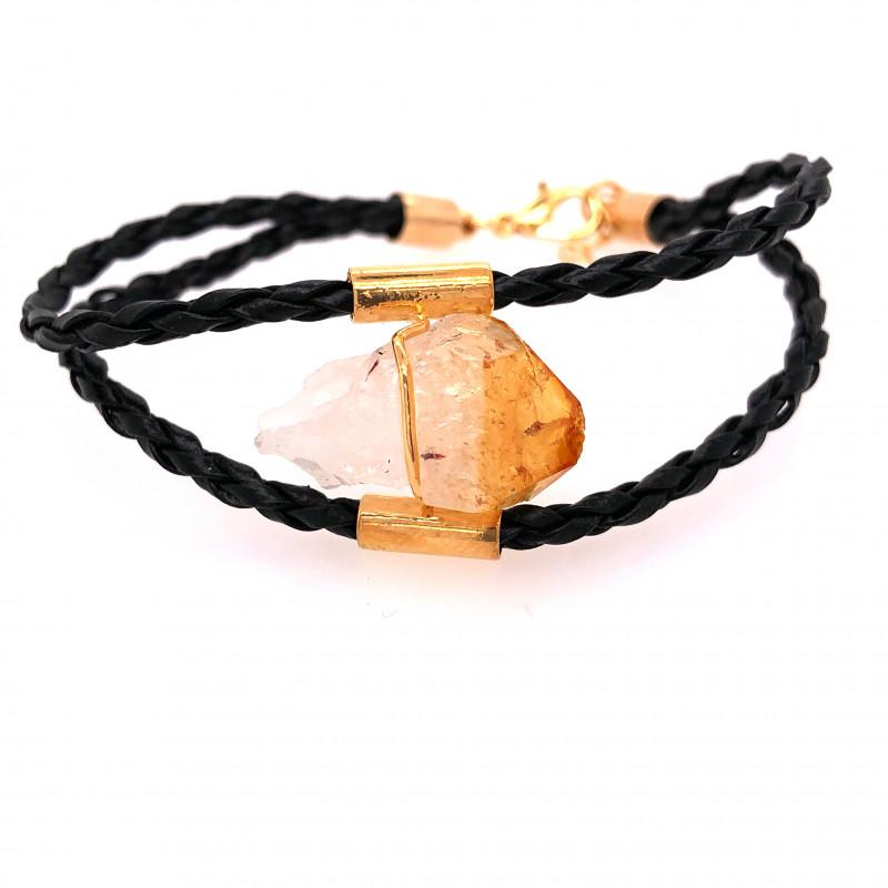 Raw Rock Citrine Bracelet  BR 715