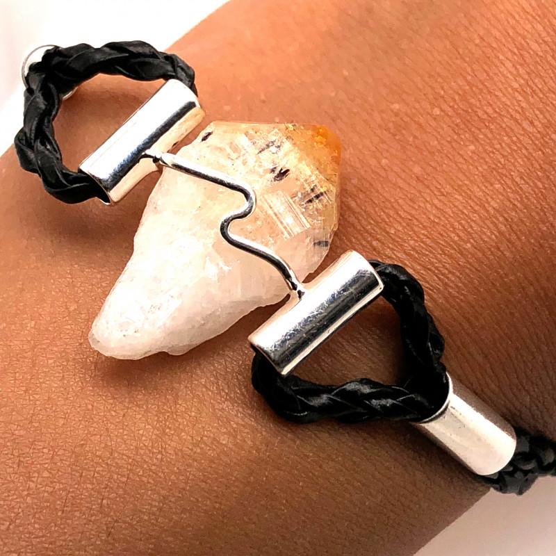 Raw Rock Citrine Bracelet  BR 718