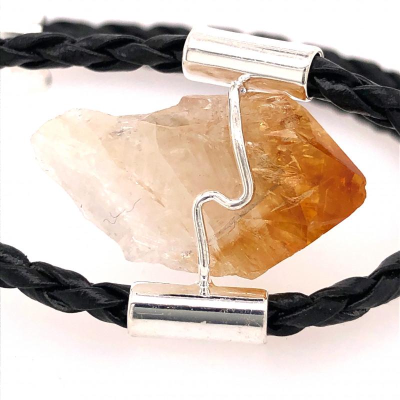 Raw Rock Citrine Bracelet  BR 726
