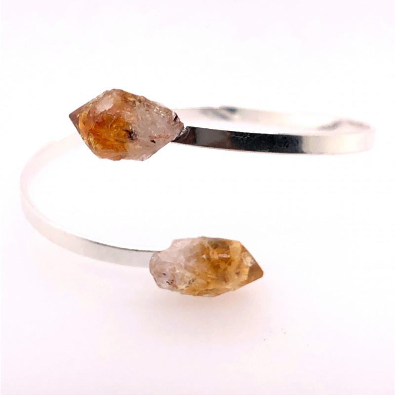 Citrine Terminated Point Gemstone Bracelet BR 741