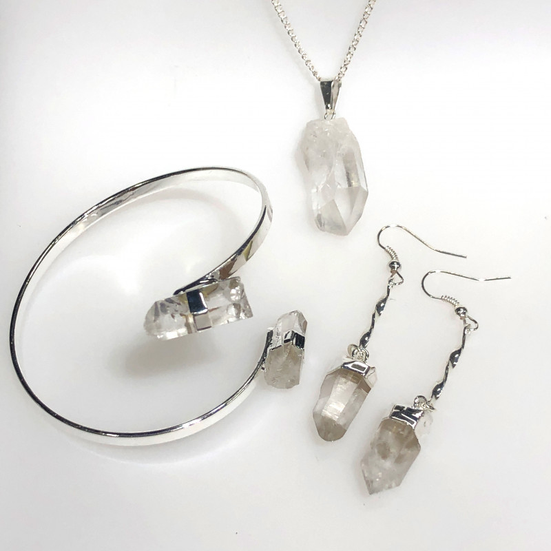 Raw Crystal Lovers 3 piece jelwery set   BR 2138