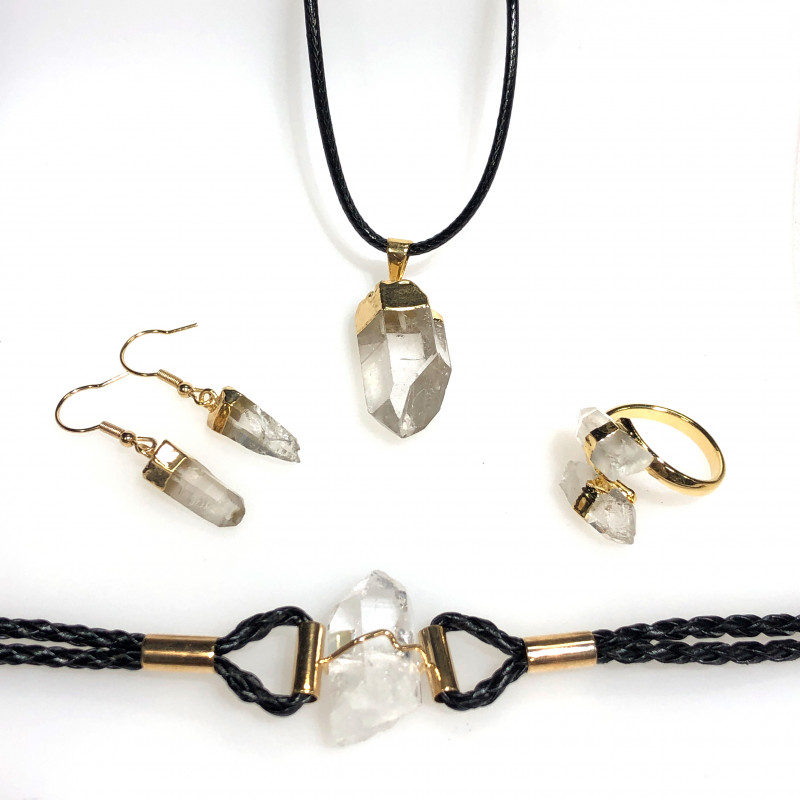Raw Crystal Lovers 5 piece jelwery set   BR 2145
