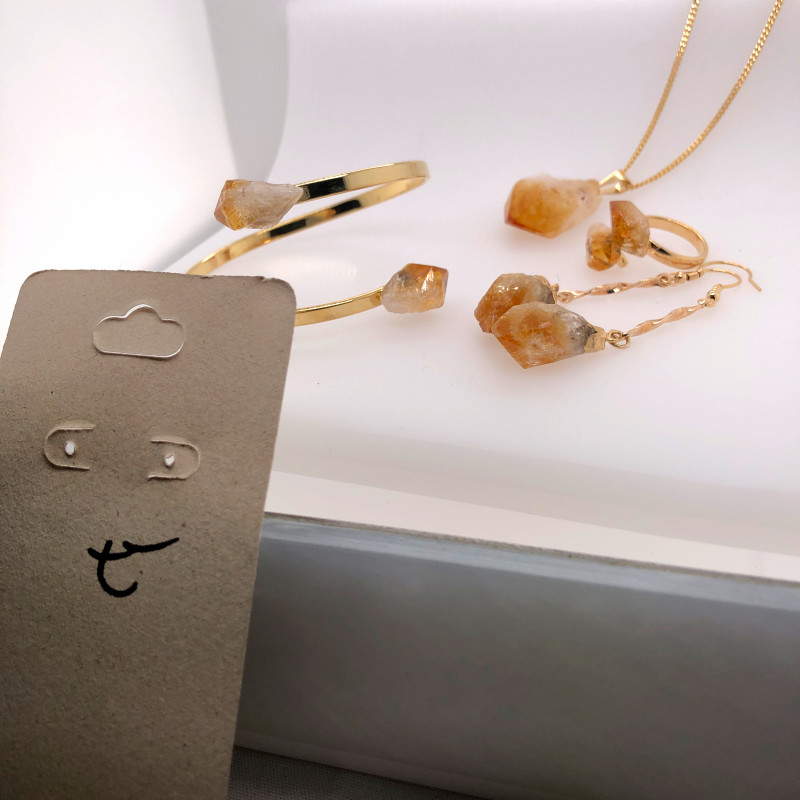 Citrine 5Piece Jewelry set BR 2157
