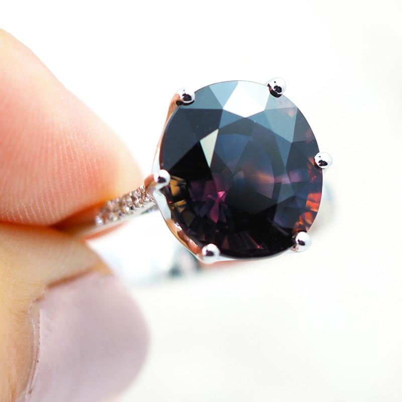 GORGEOUS PARTY SAPPHIRE RING - CERTIFIED NATURAL 7.27 CTS SG121