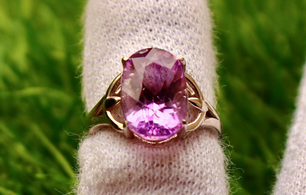 19.40 Cts Unheated & Natural ~ Purple Amethyst Silver Ring