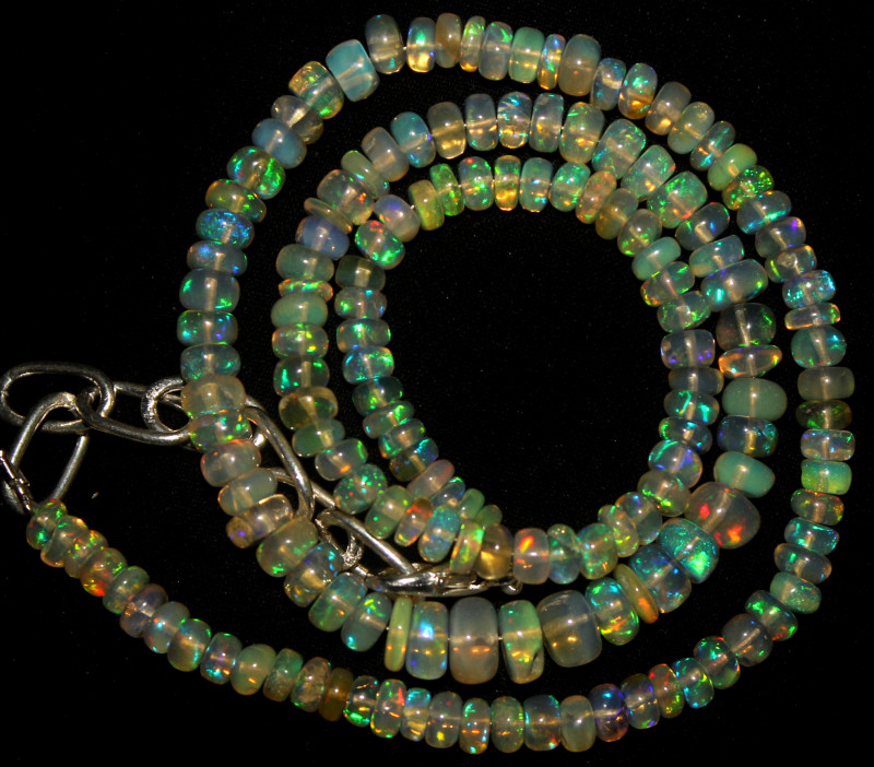 50 Crt Natural Ethiopian Welo Opal Beads Necklace 795