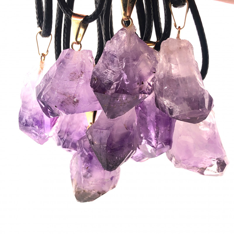 Parcel 10 x Amethyst Terminated Point Pendant BR 773