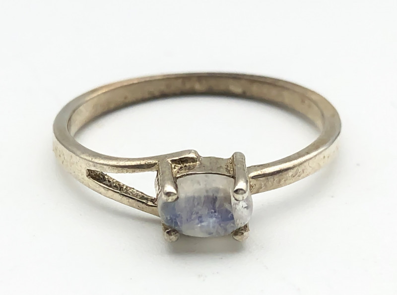 7.83 Crt Natural Moonstone 925 Silver Ring ( RK-5 )
